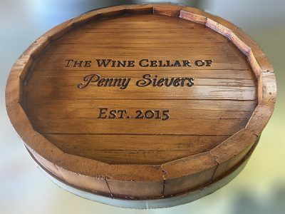 Wine Quarter Barrel Personalized Lazy Susan
