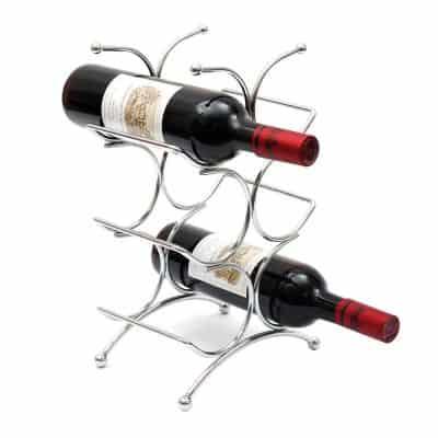 Wine Rack Wine Organizer Wine Holder,Kitchen 6 Bottles Wine Organizer by LivingAid