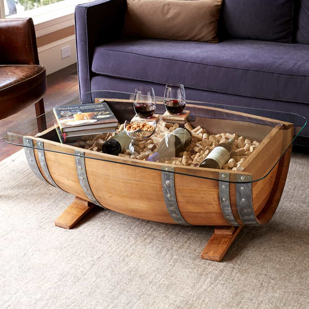 Wine Barrel Furniture Ideas You Can DIY or BUY 135 PHOTOS : Wine barrel coffee table from www.decorsnob.com size 1000 x 1000 jpeg 322kB