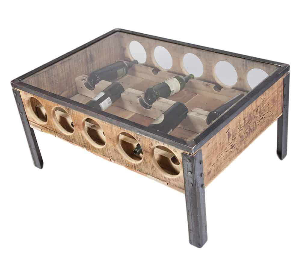 Wine rack coffee table