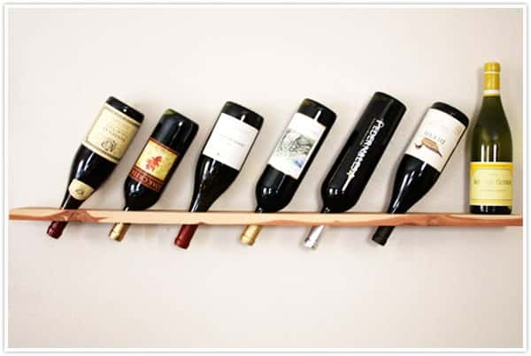 Wood Plank Wine Rack