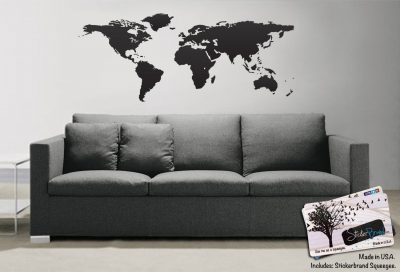 World Map of Earth Wall Decal Sticker