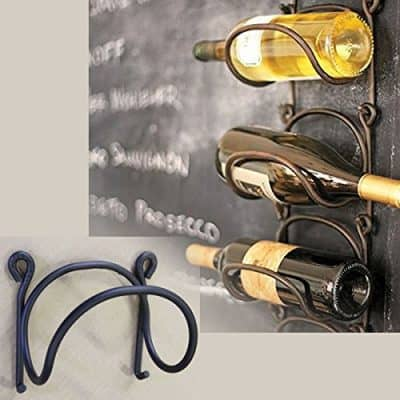 Wrought Iron Wine Bottle Rack Modular Wall Mounted