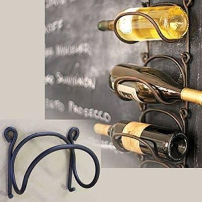 Wrought Iron Wine Bottle Rack Modular Wall Mounted