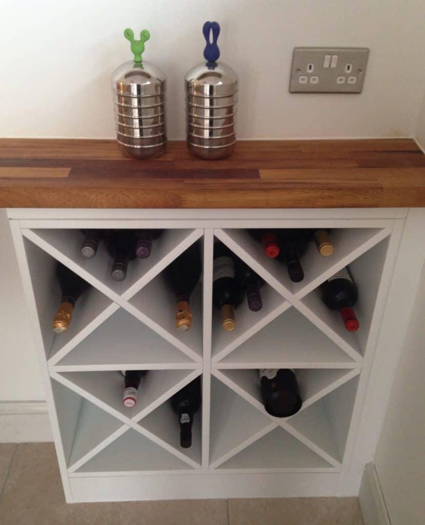 X-Shaped Wine Rack