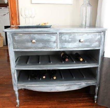old table wine rack