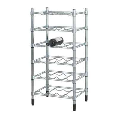 OMAR Bottle shelving unit, galvanized