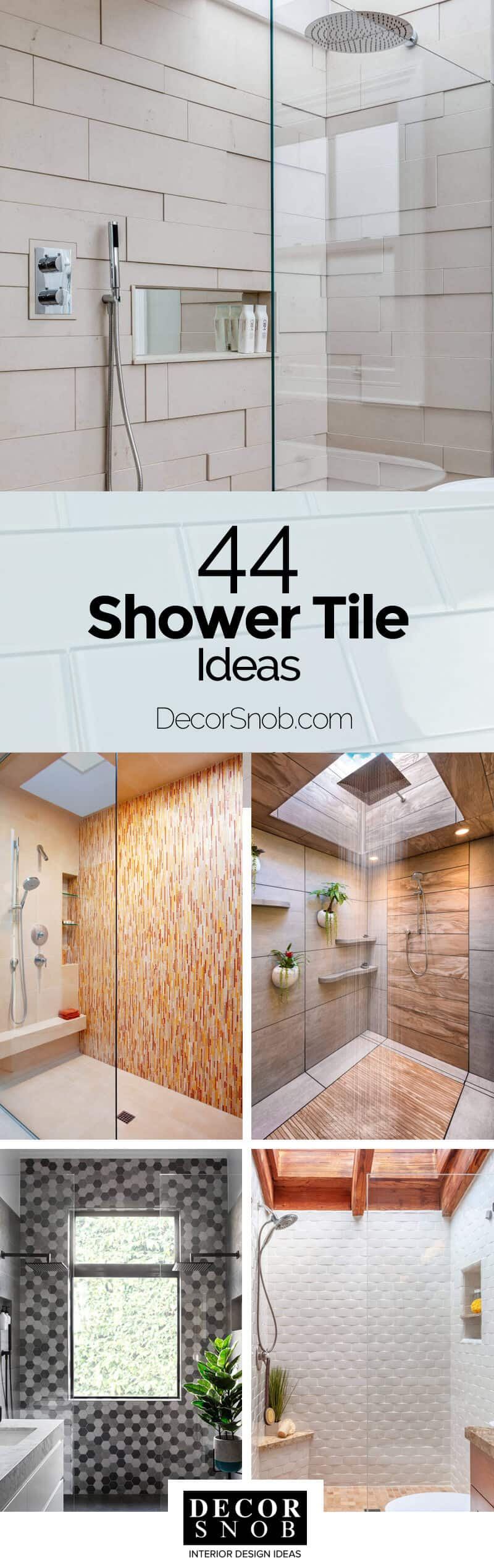 44 Modern Shower Tile Ideas To Make Your Bathroom Amazing