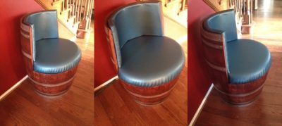 Wine Barrel Chair DIY