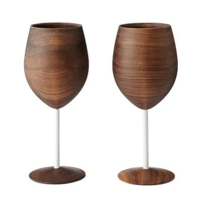 Handcrafted WUD Walnut Wood Wine Glass