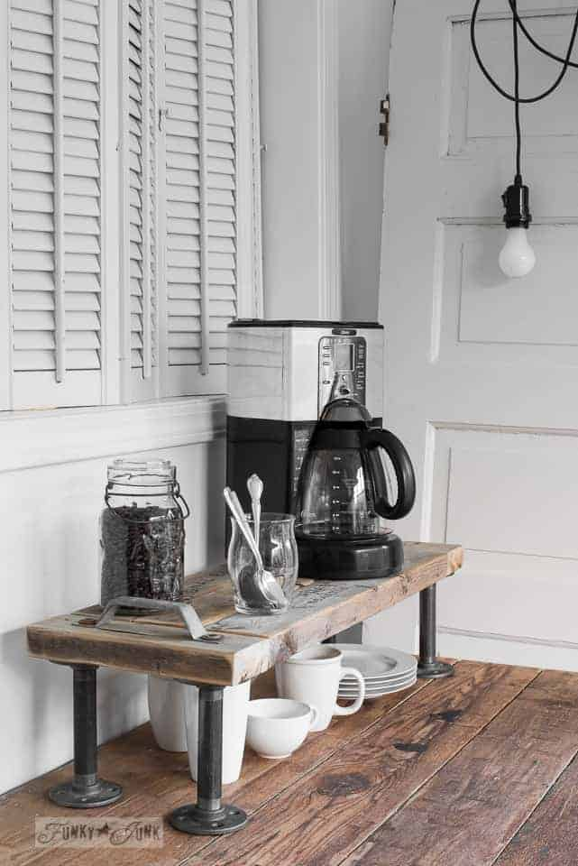 Industrial and Compact coffee bar ideas