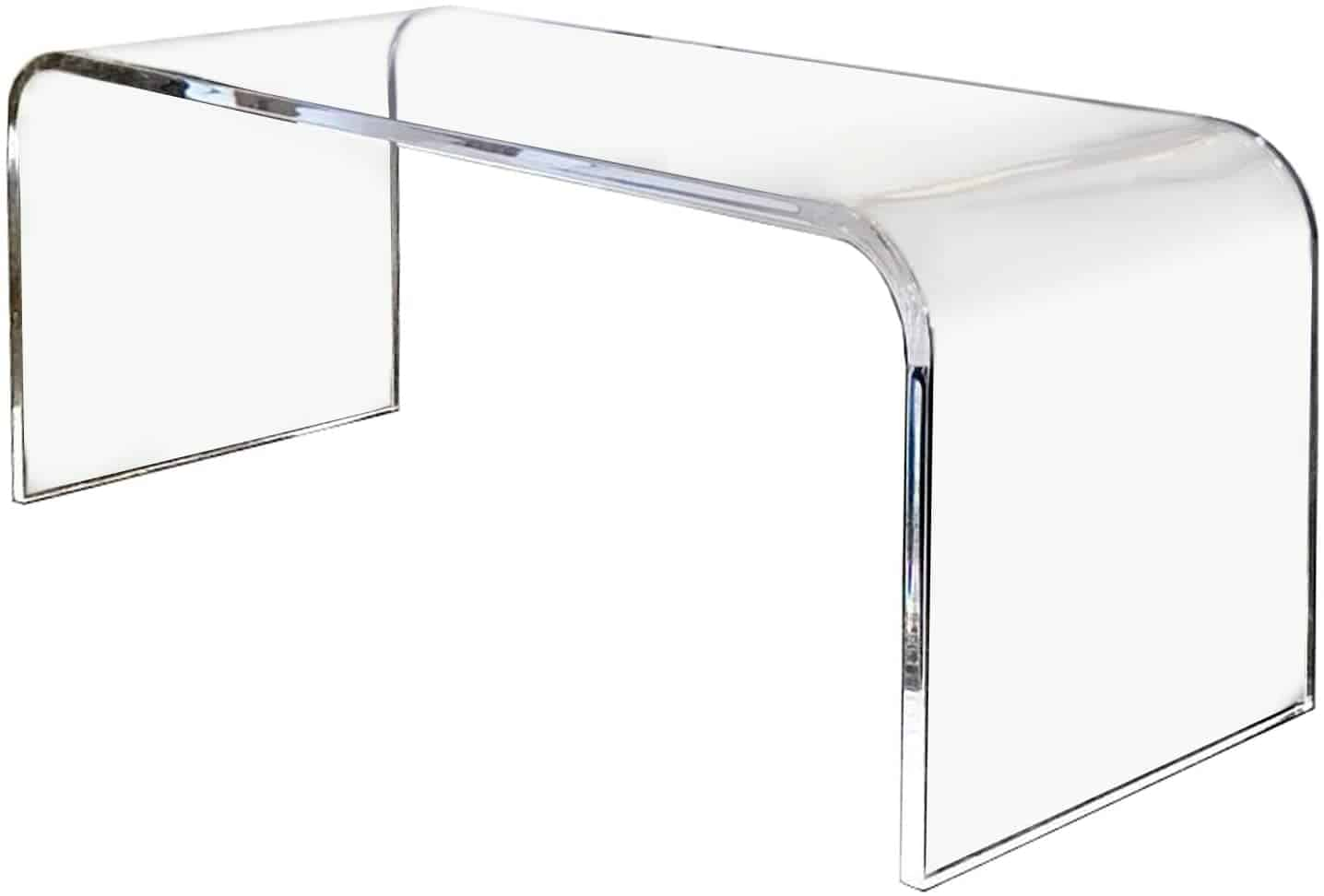 Acrylic see-through table with rounded corners