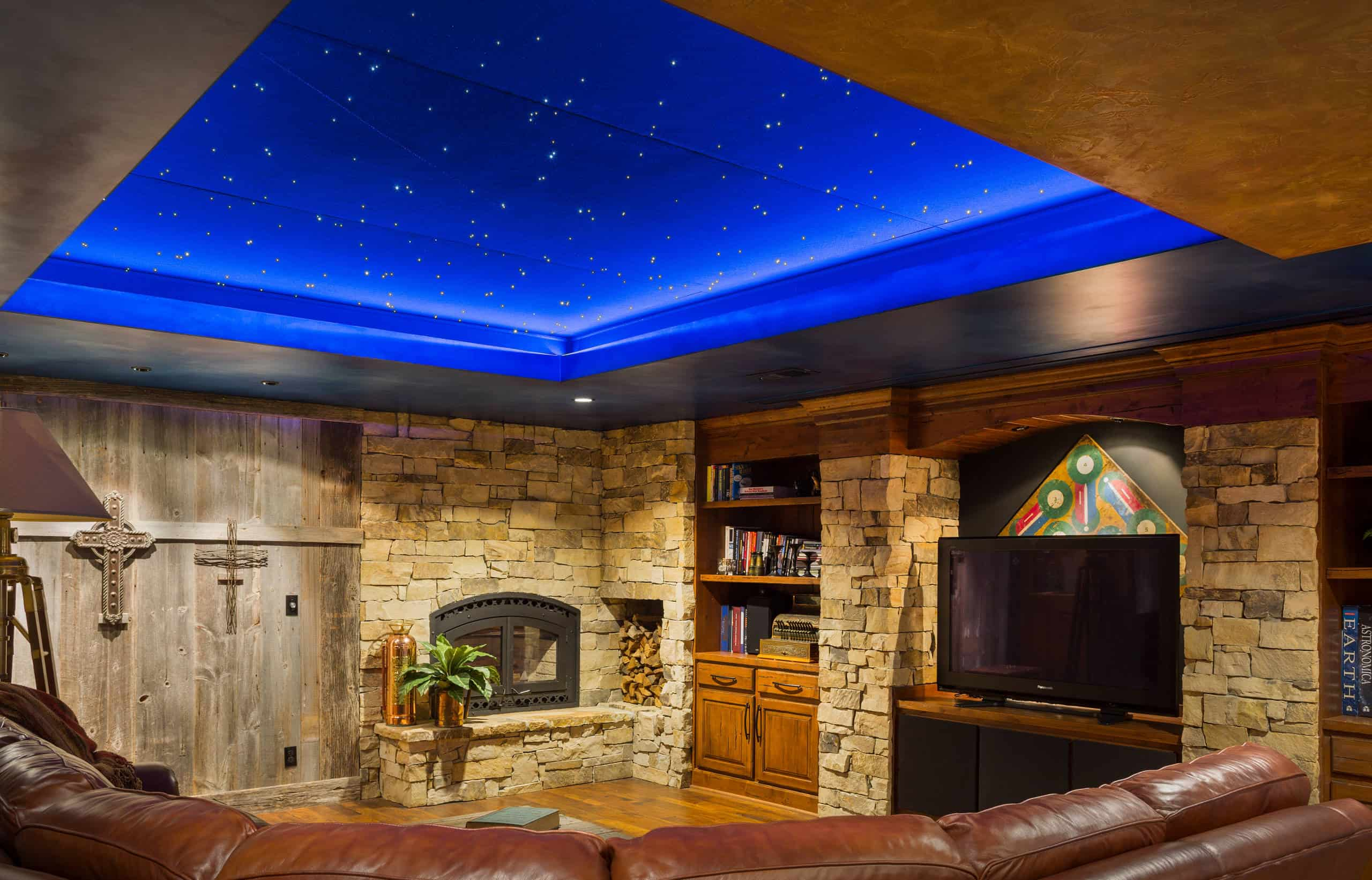 Starry Night Sky Basement Lighting