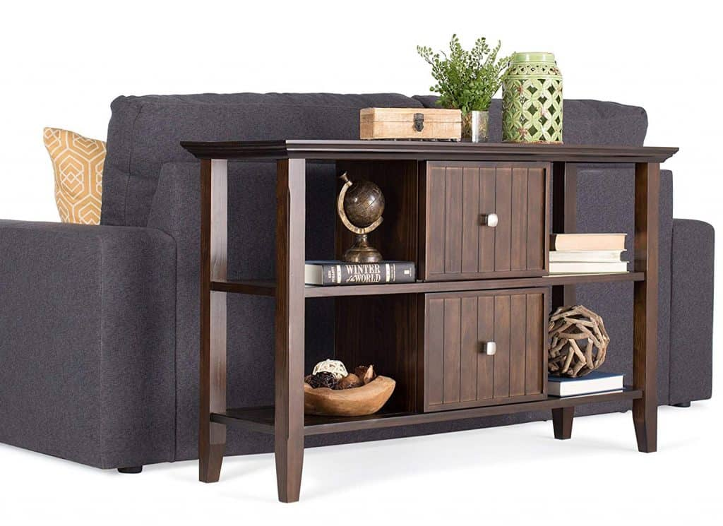 Dependable Console Table with Centralized Cabinetry
