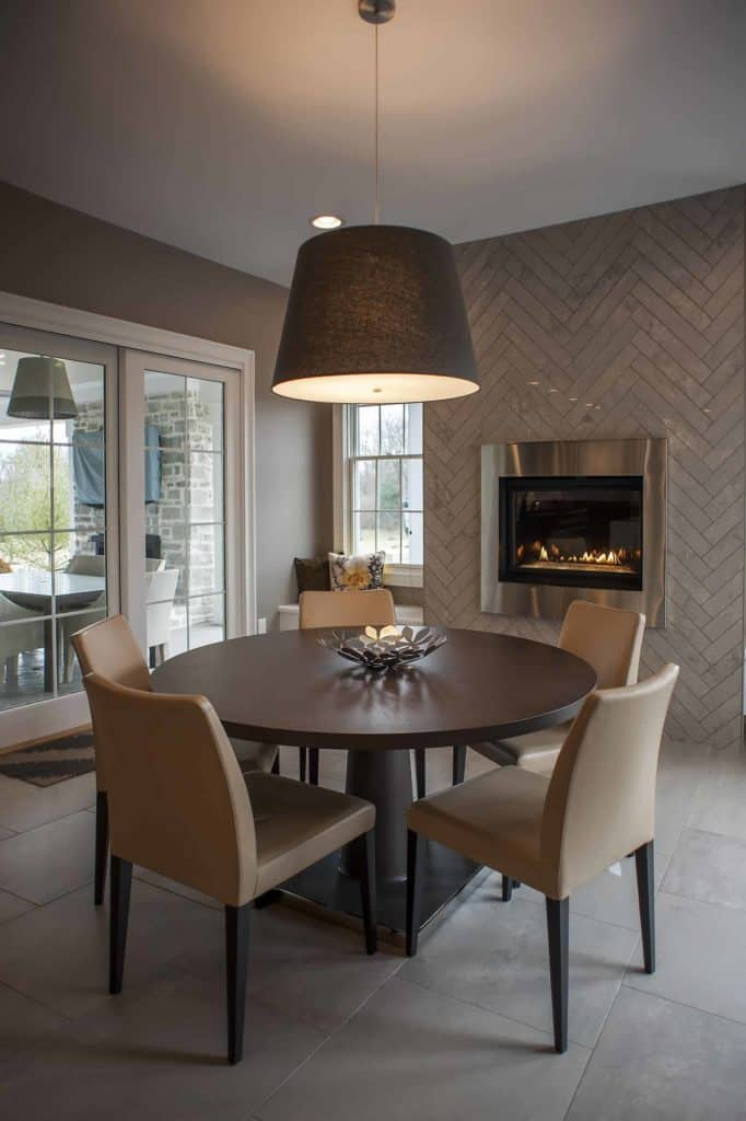 tiled fireplace ideas - Herring To The Bone