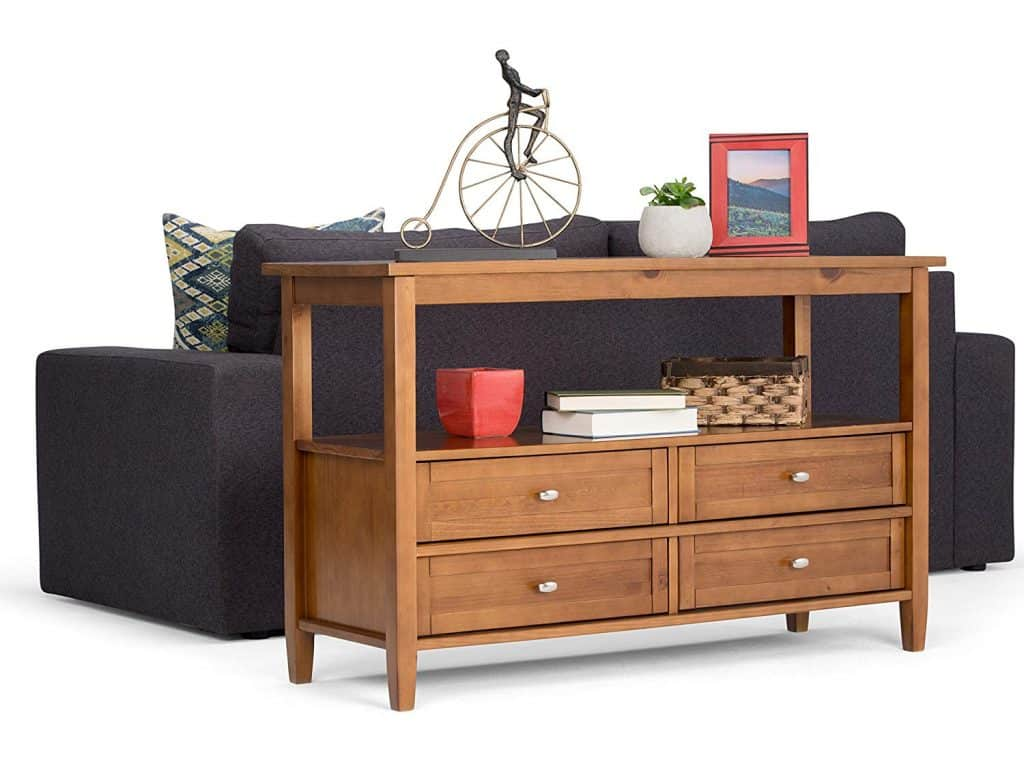 Multipurpose Honey Brown Console Table