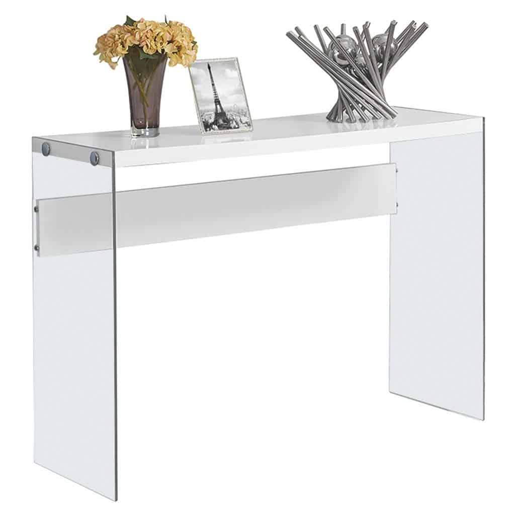 Ultra-Modern Glass Sofa Table