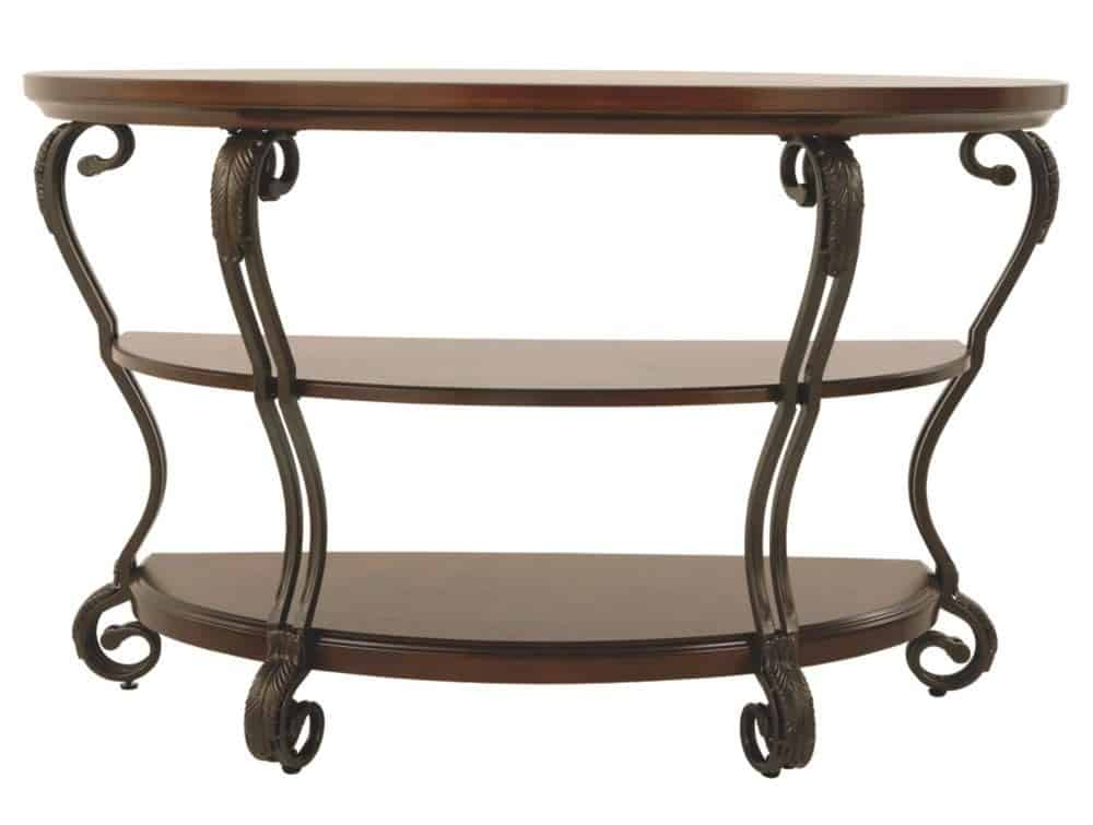 Traditional Entryway Table with Serpentine Legs