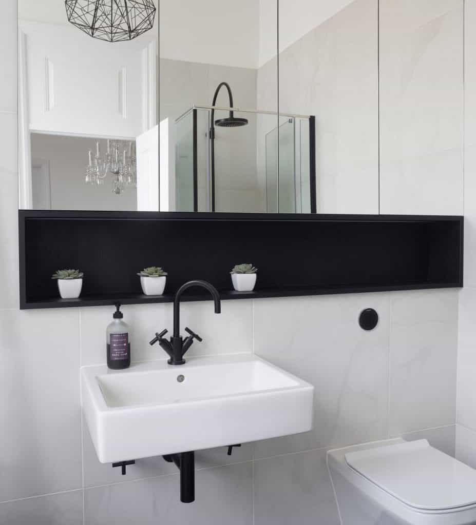 Recessed Shelves Ideas for Above Sink