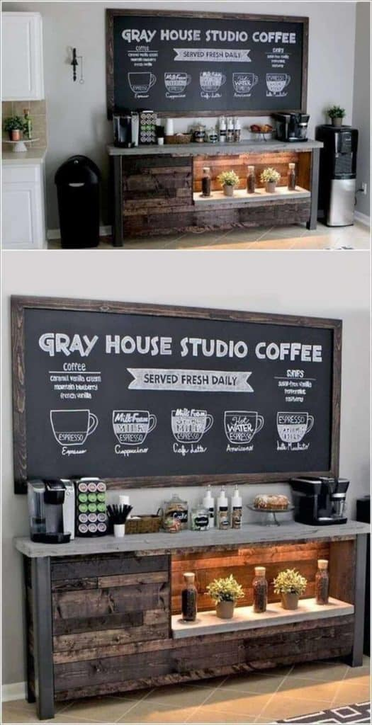 Rustic Menu-Forward coffee bar ideas
