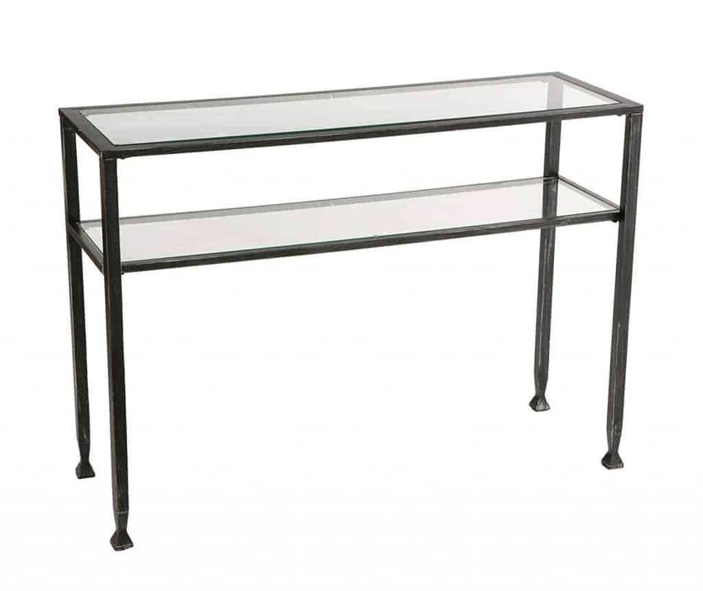 Sleek Metal Sofa Table