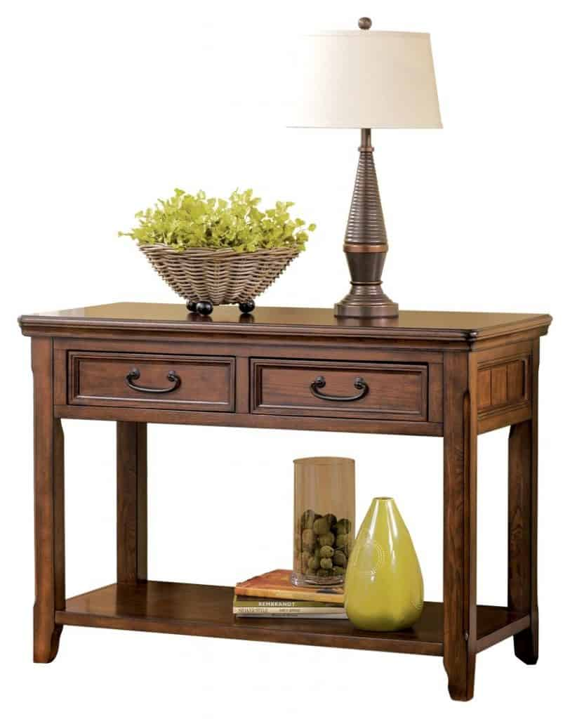 Traditional Side Table with Drawers