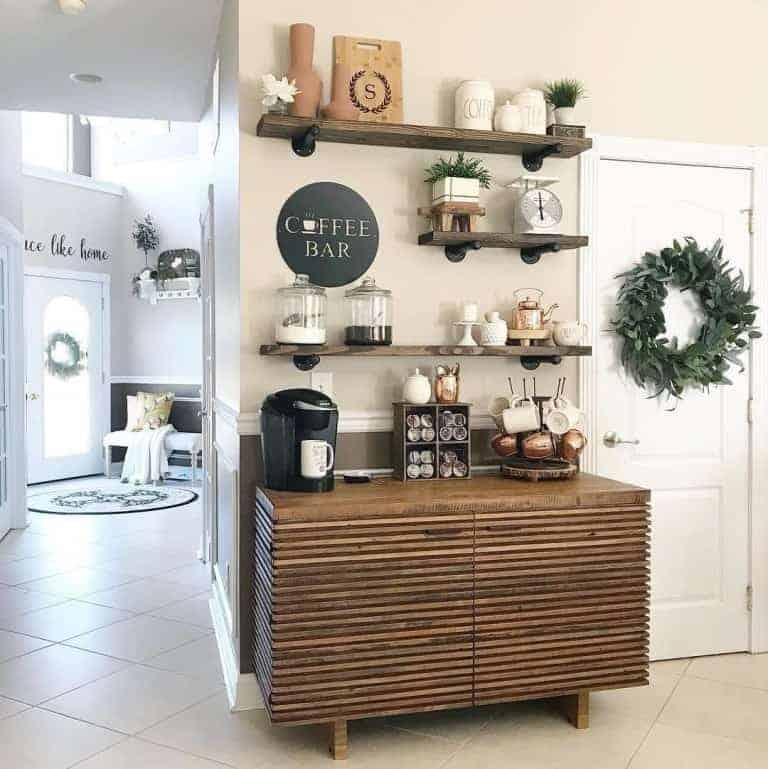 Home Coffee Bar Design Ideas: 47 Kitchen Coffee Station Ideas For A Beautiful Caffeine