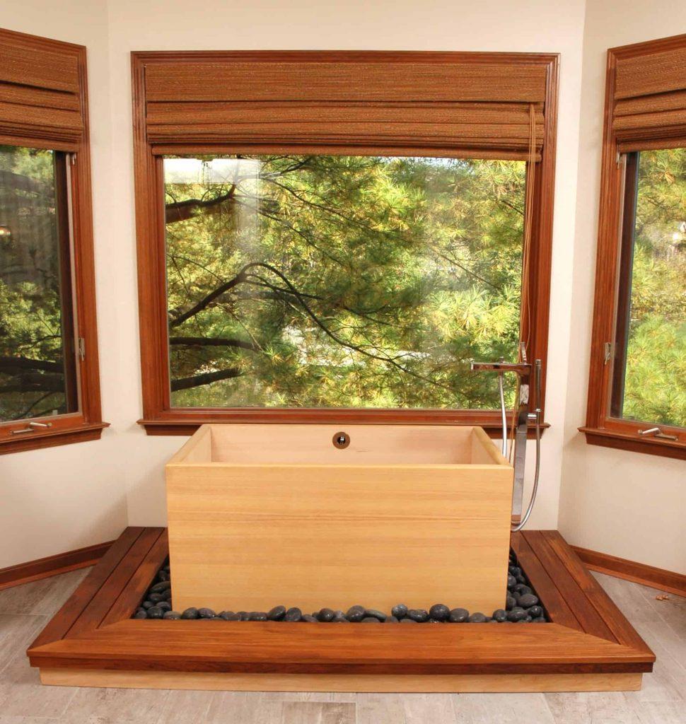 zen japanese bathtub design in Cincinnati