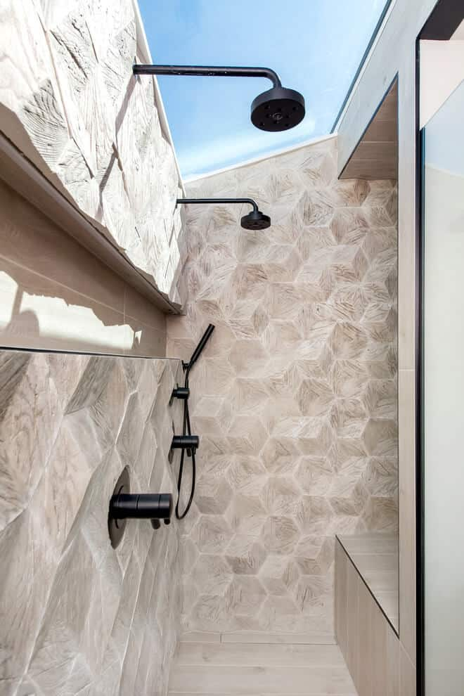 Honeycomb Brown shower tiles