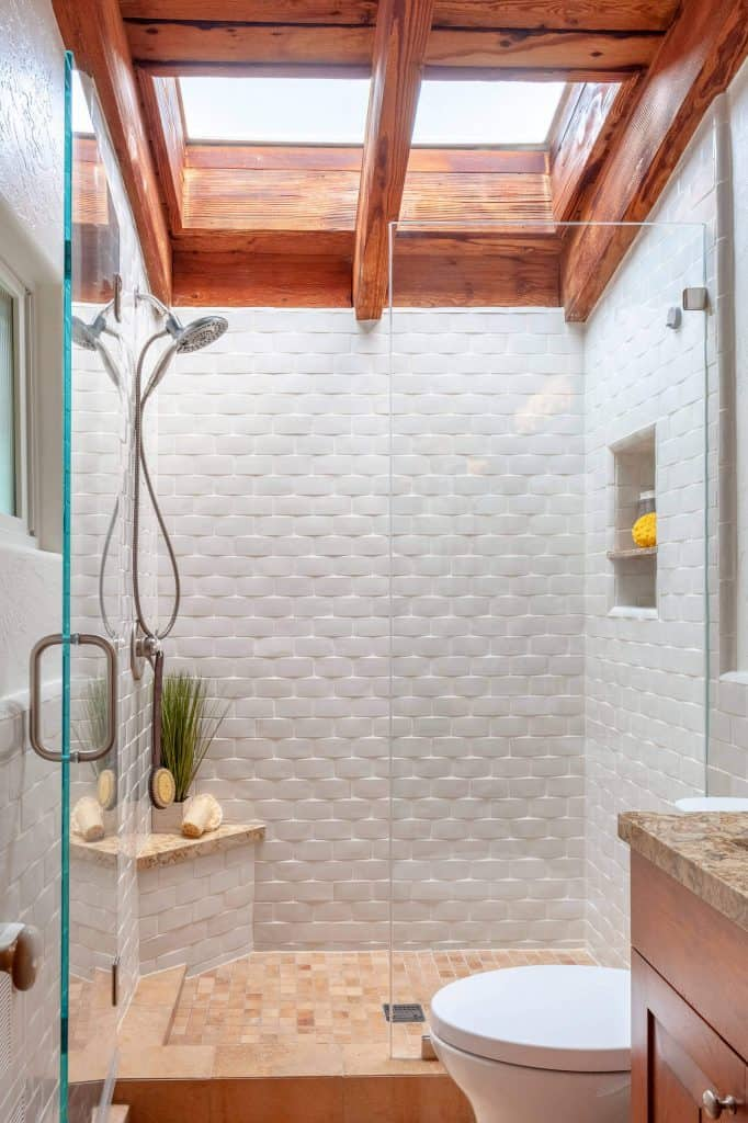 Extruded White Brick bathroom tile ideas