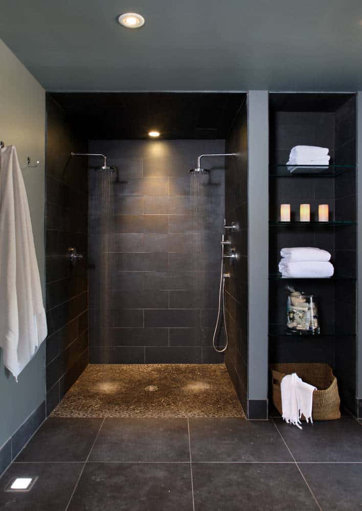 Hotelier Pebble Double walk-in Shower