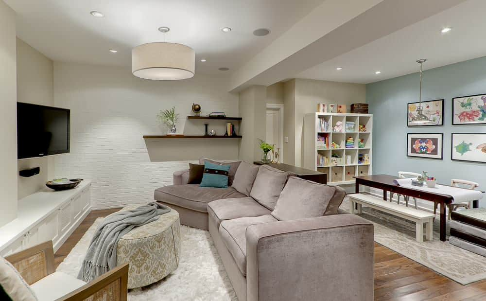 Classic Recessed Basement Lighting