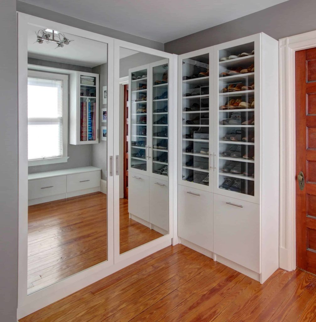 Double Closet Doors with Mirror