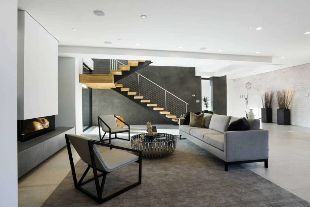 Use Grey In Your Modern Fireplace Design
