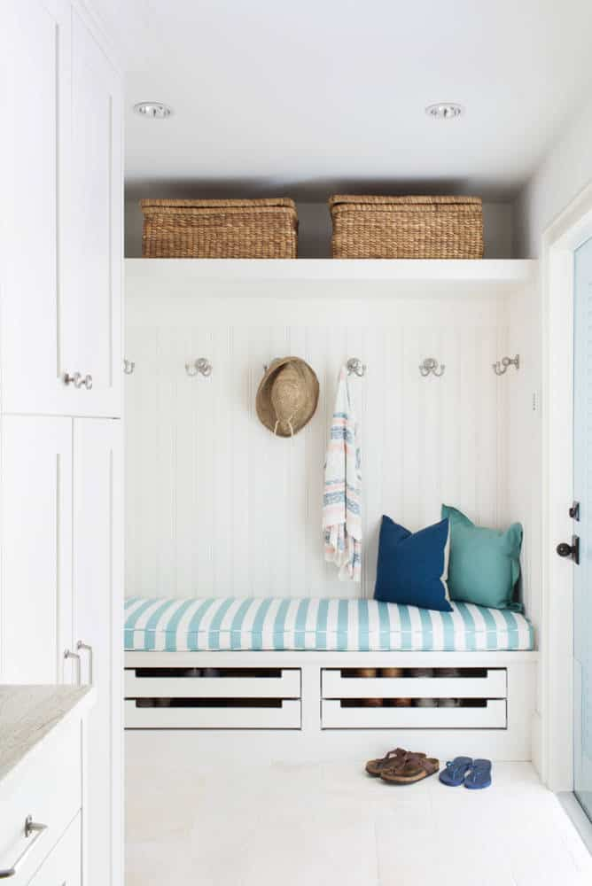 Mud Room Shoe Drawers