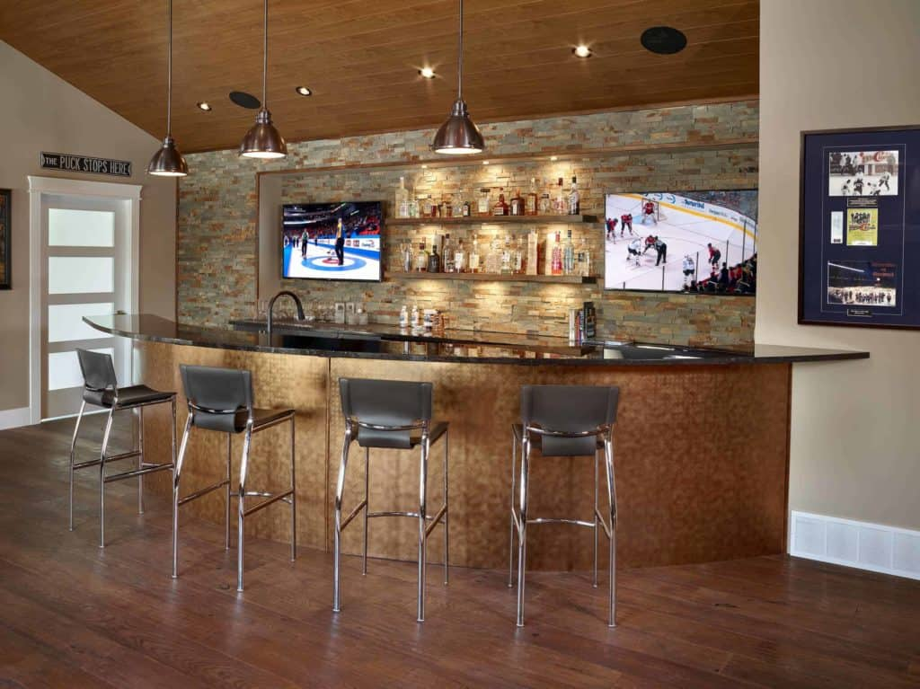 Elegant Sports Basement Bar Space