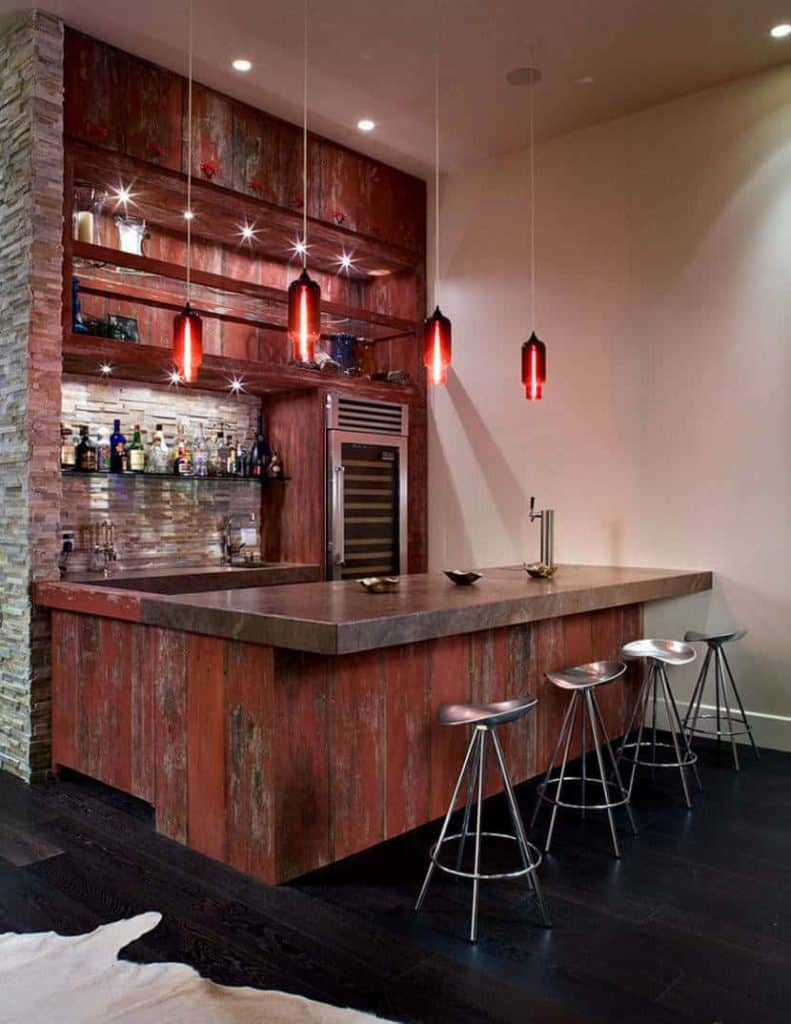 Contemporary Industrial Pendant Bar