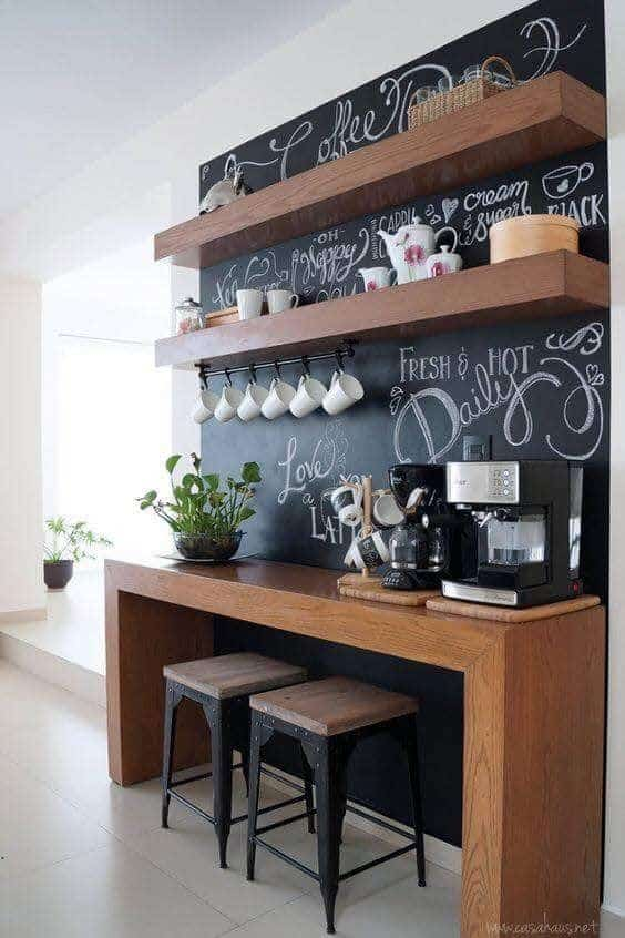 Chalkboard coffee bar ideas