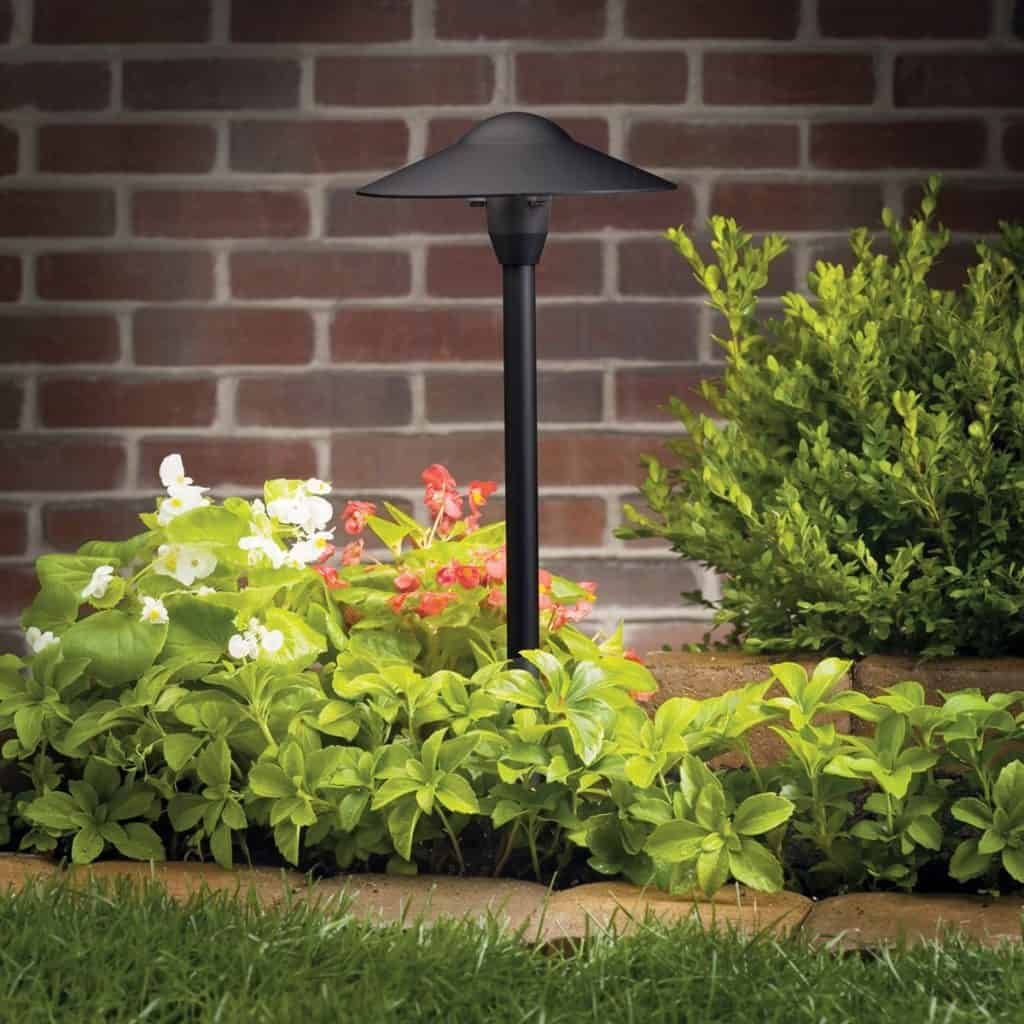 15310BKT Dome 1LT 21IN IncandescentLED Hybrid LV Landscape Path & Spread Light - landscape lighting ideas