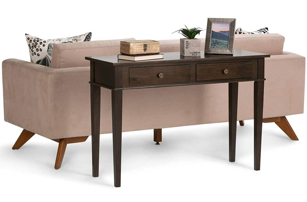 Tobacco Brown Contemporary Sofa Table