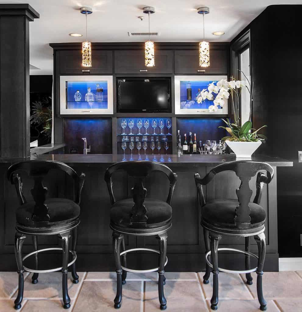 Gothic Basement Bar Idea