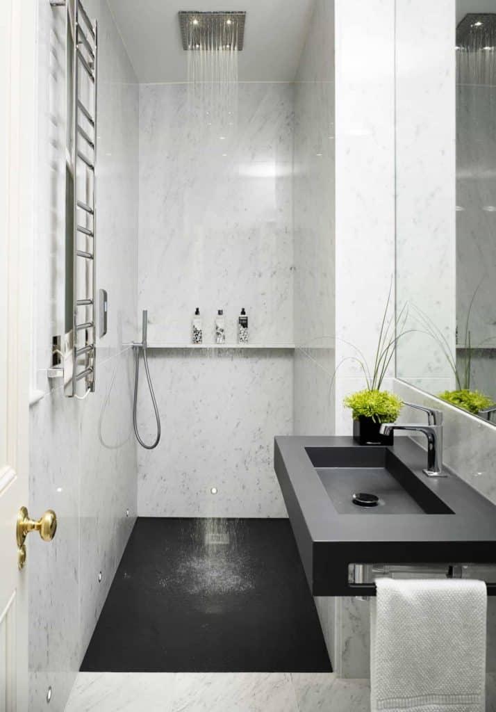 Modish Compact Doorless walk-in Shower