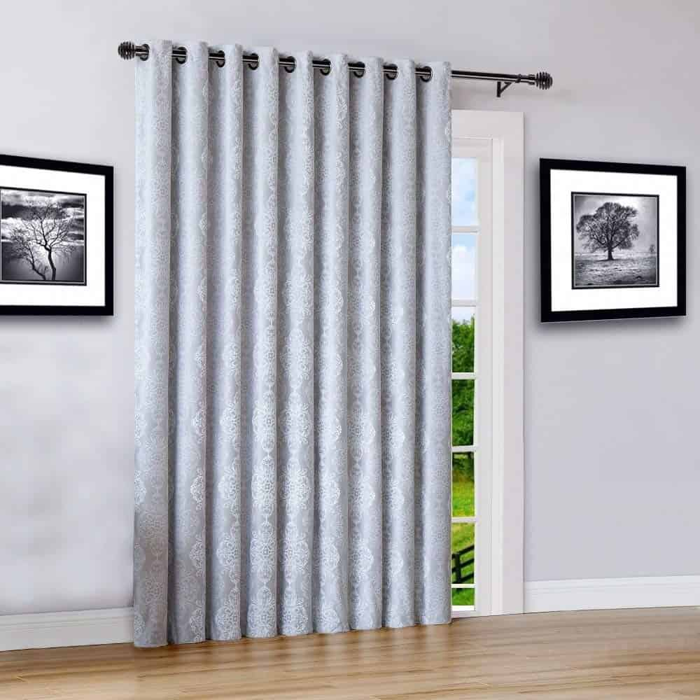 extra-wide thermal blackout curtain can be used on French doors or sliding doors