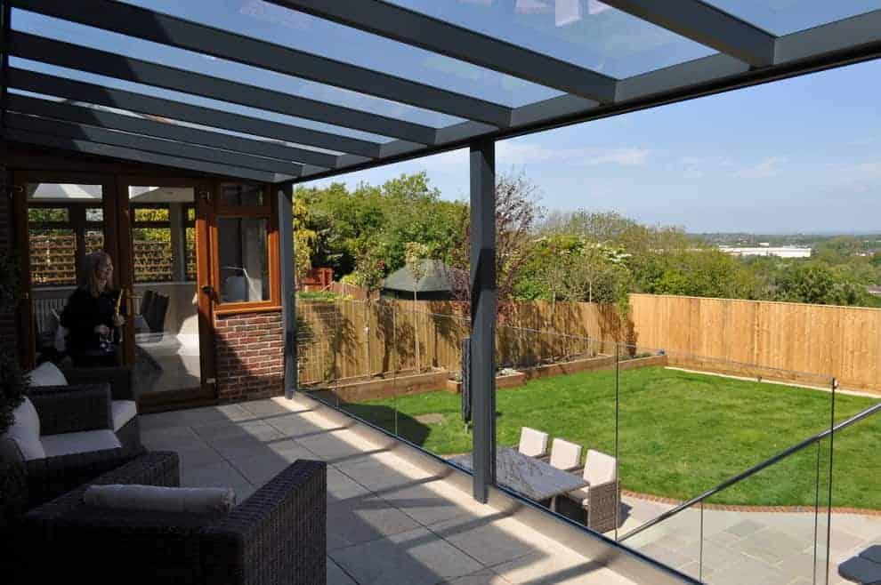 Glass Panel Railing Substitute Deck Railing Ideas
