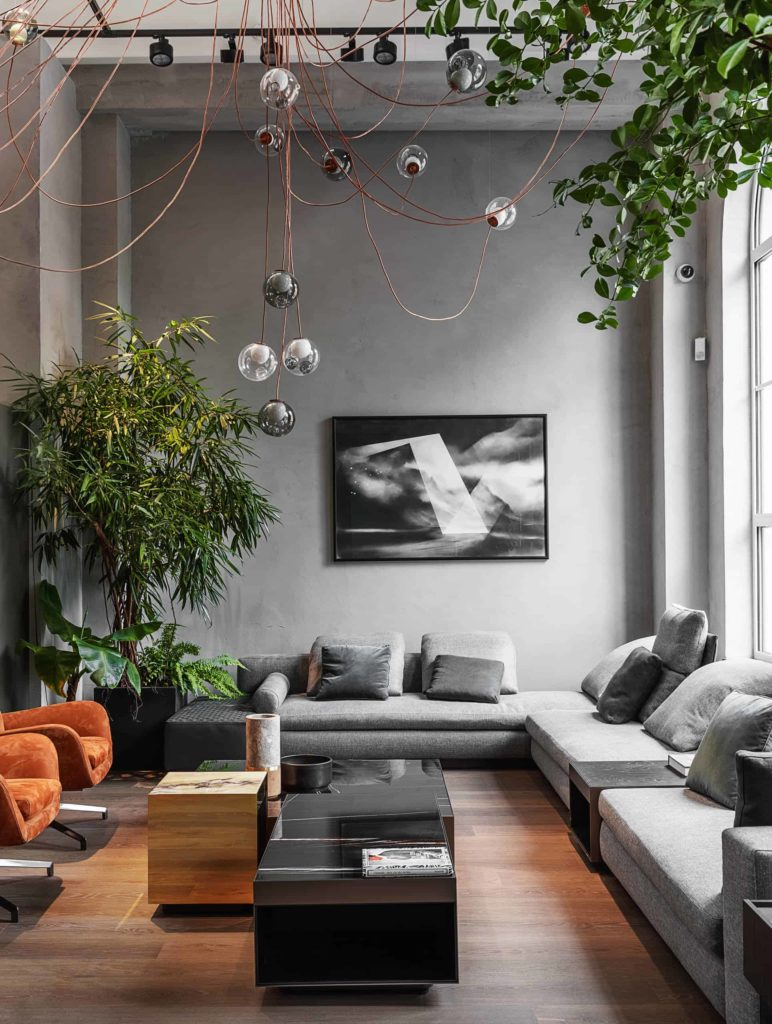 Give Your Living Room Imagination With Grey Artistic Elements
