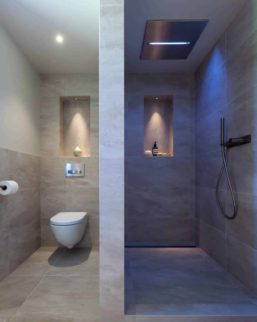 Walk-in Shower Without Doors - Branched