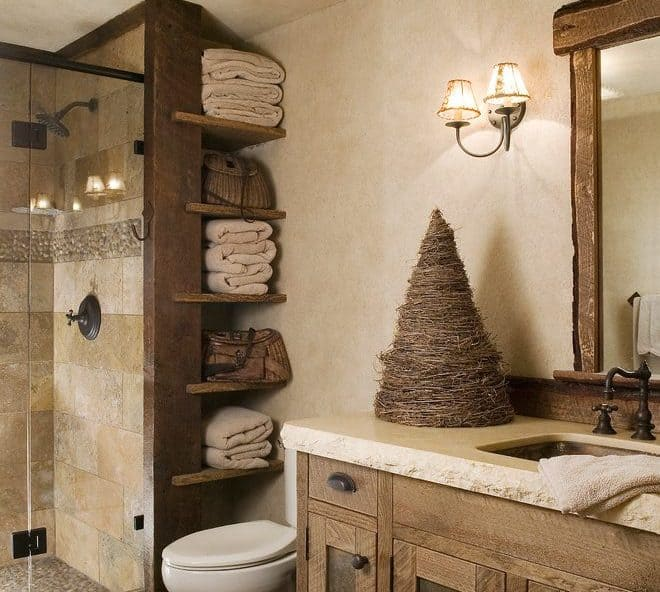 Inlaid Tier Bathroom Shelves Ideas