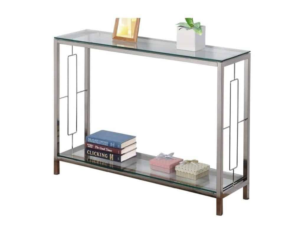 Distinctive Glass Accent Table