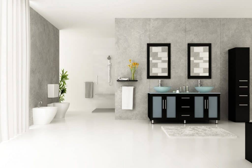 59 inch Double Lune Large Glass Vessel Sink Modern Bathroom Vanity with Glass Top