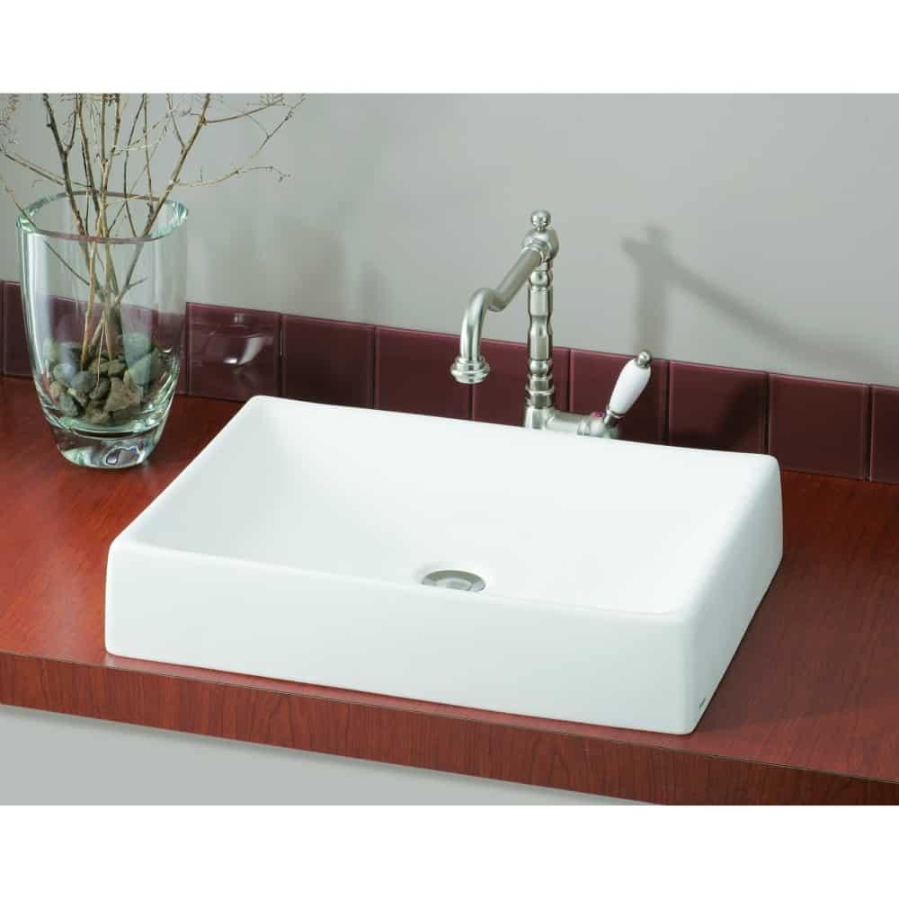Cheviot 1246-WH Quattro 19 Inch Vessel Sink LESS Faucet